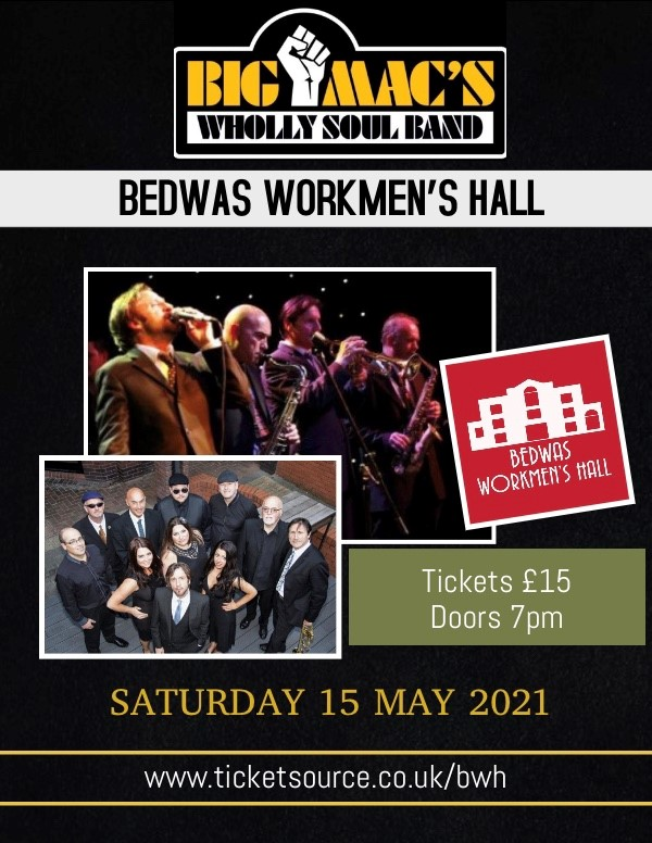 Big Mac's Wholly Soul Band at Bedwas Workmen's Hall