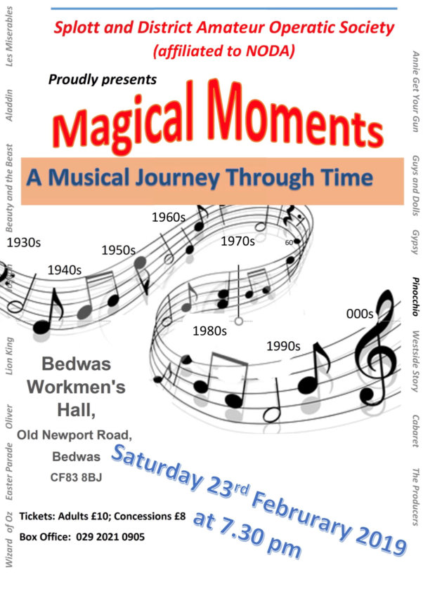 Poster for Magical Moments with Splott Operatic Society