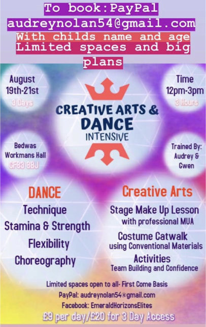 Creative Arts and Dance workshop