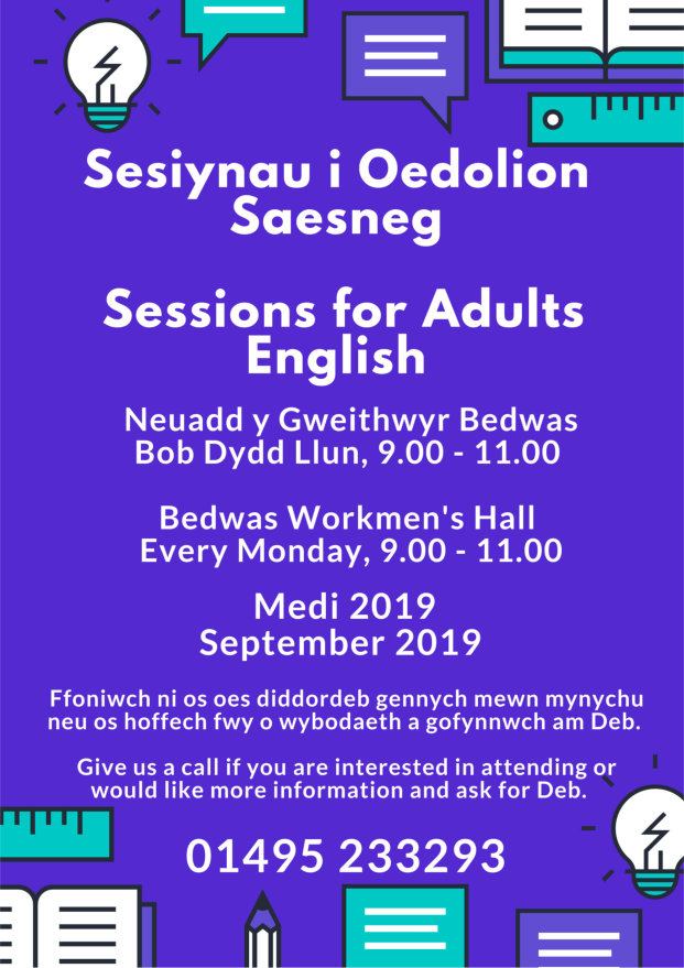 English for adults at Bedwas Workmen's Hall