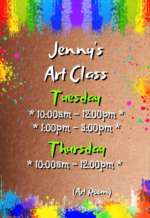 Art classes at Bedwas Workmen's Hall