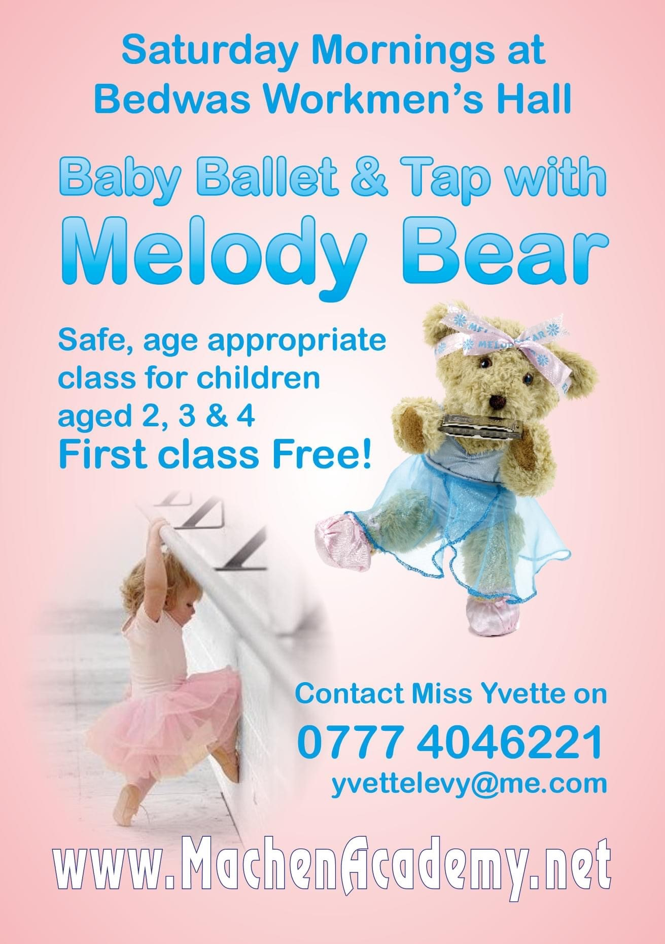 Melody Bear dance classes for toddlers at Bedwas Workmen's Hall